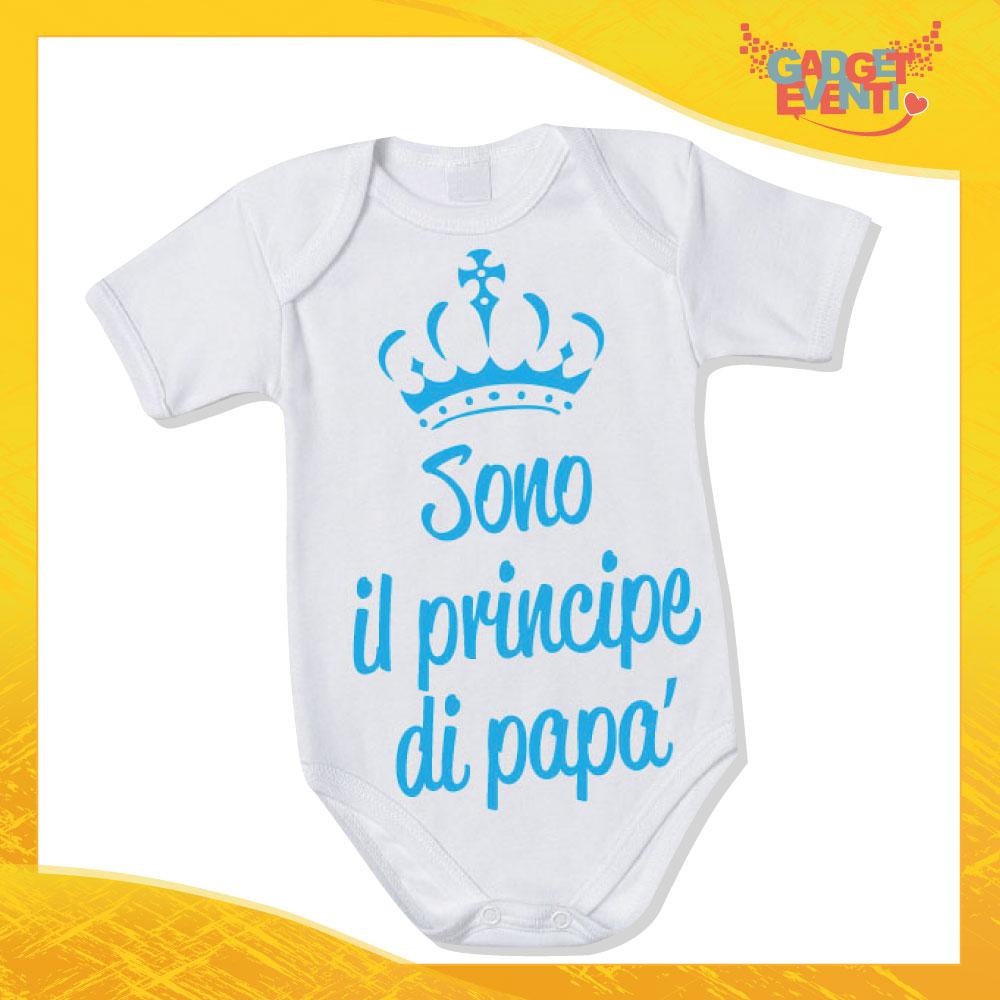 """Body Neonato Bodino Bimbo """"Principe di papà"""" Gadget Eventi"""