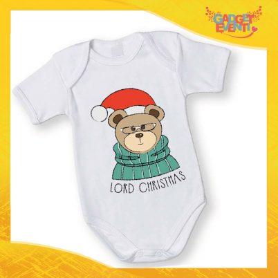 """Body Neonato Bodino Natalizio """"Lord Christmas Teddy Bear"""" Gadget Eventi"""