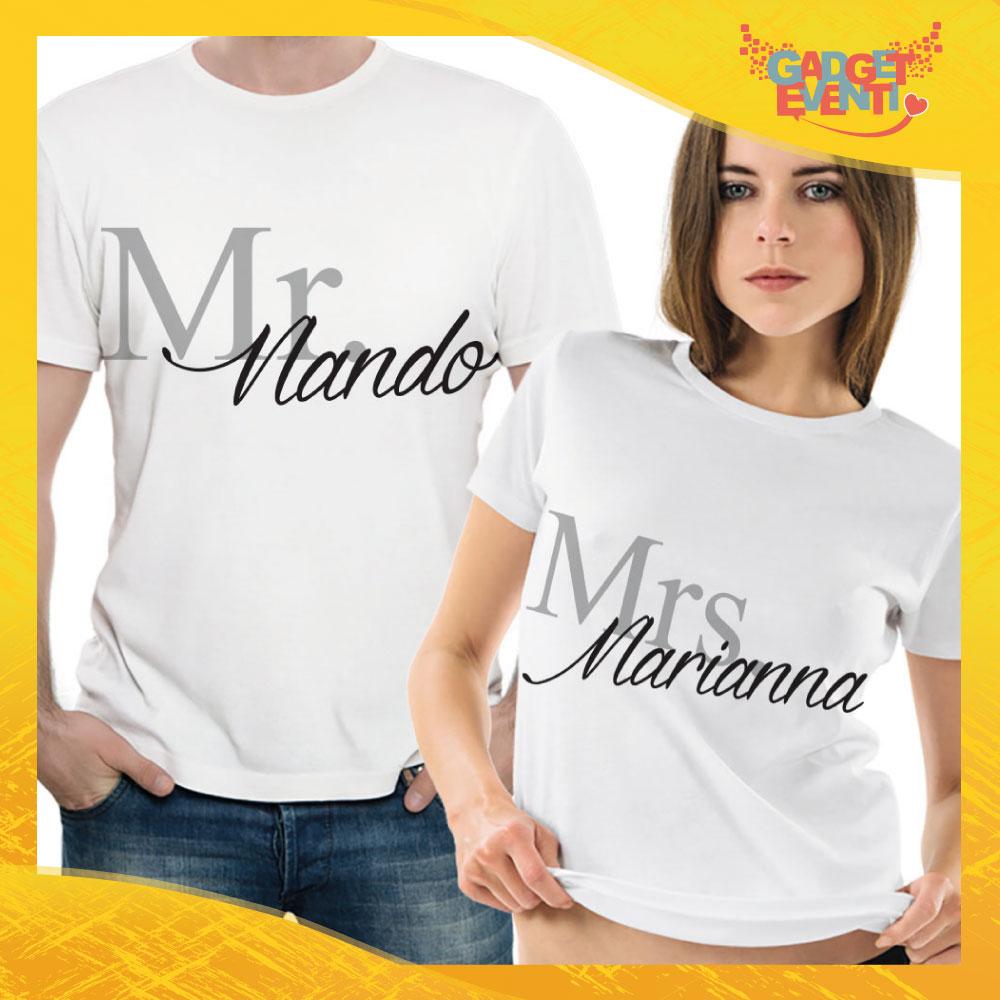 """T-Shirt Coppia Maglietta """"Nando e Marianna"""" Gadget Eventi"""