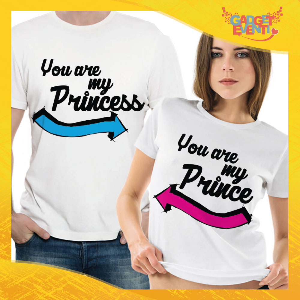 "T-Shirt Coppia Maglietta ""You are my Princess Freccia"" Gadget Eventi"