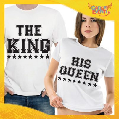 "T-Shirt Coppia Maglietta ""The King and his Queen"" Gadget Eventi"