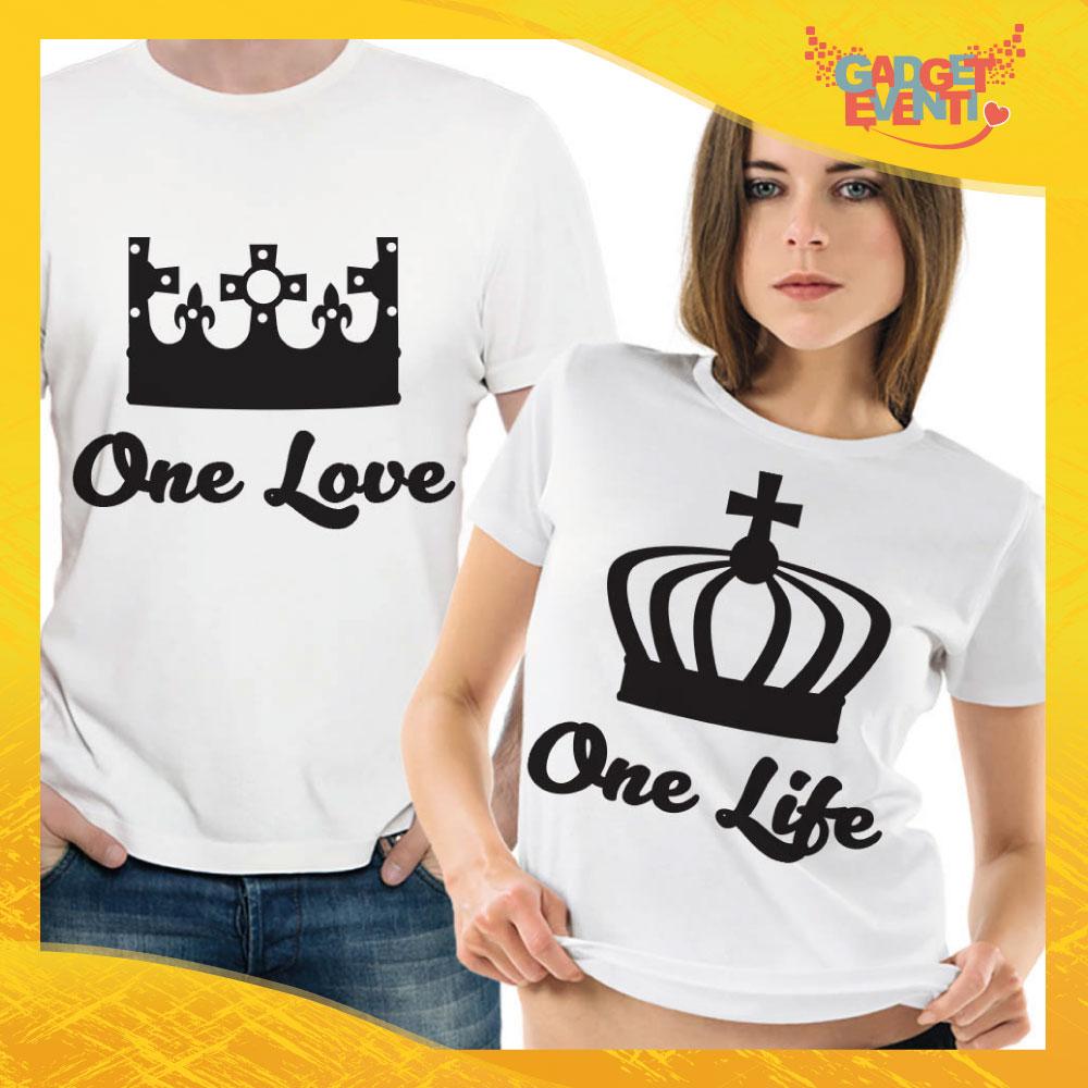 """T-Shirt Coppia Maglietta """"One Love Corona"""" Gadget Eventi"""