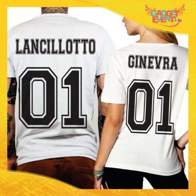 """T-Shirt Coppia Retro Maglietta """"Lancillotto and Ginevra"""" Gadget Eventi"""