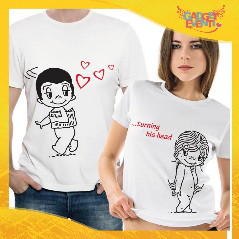 "T-Shirt Coppia Maglietta ""Turning his head"" Gadget Eventi"