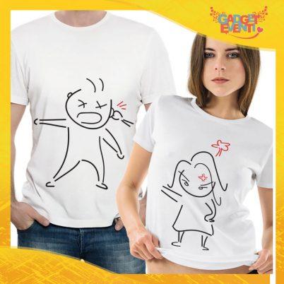 """T-Shirt Coppia Maglietta """"Litigio Amoroso"""" Gadget Eventi"""