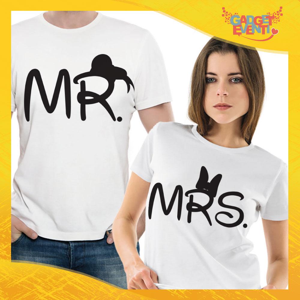 "T-Shirt Coppia Maglietta ""Mr and Mrs"" Gadget Eventi"