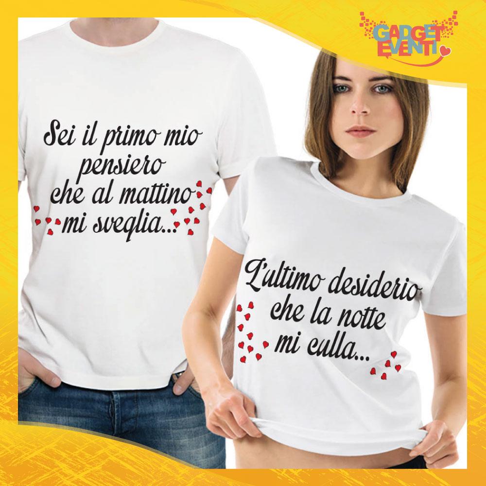 """T-Shirt Coppia Maglietta """"Primo pensiero del Mattino"""" Gadget Eventi"""