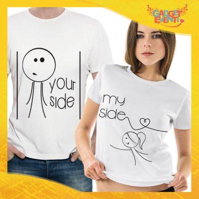 "T-Shirt Coppia Maglietta ""Your Side My Side"" Gadget Eventi"