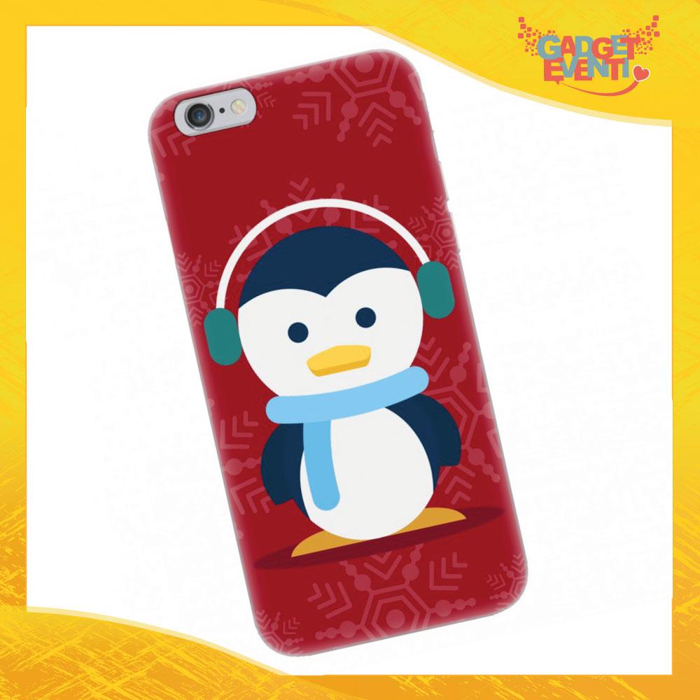 "Cover Smartphone Natale Cellulare Tablet ""Pinguino"" Gadget Eventi"
