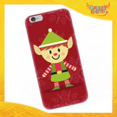 """Cover Smartphone Natale Cellulare Tablet """"Elfo"""" Gadget Eventi"""