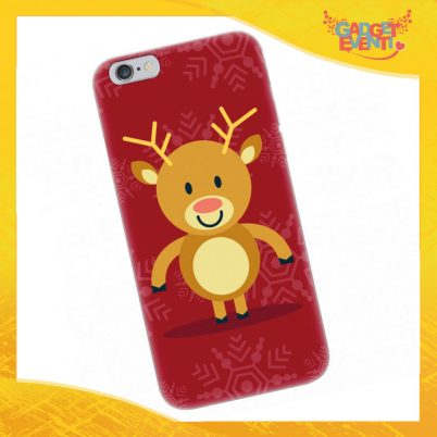 """Cover Smartphone Natale Cellulare Tablet """"Renna"""" Gadget Eventi"""