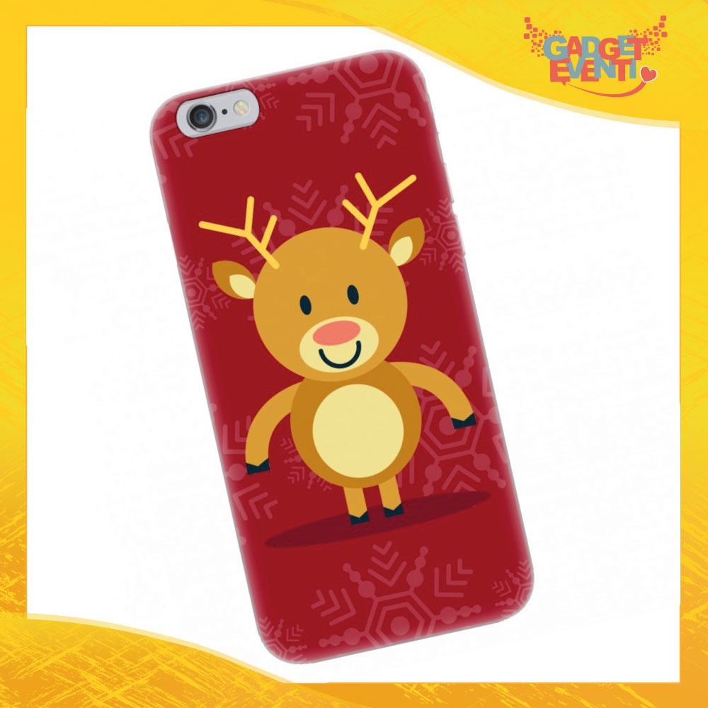 "Cover Smartphone Natale Cellulare Tablet ""Renna"" Gadget Eventi"