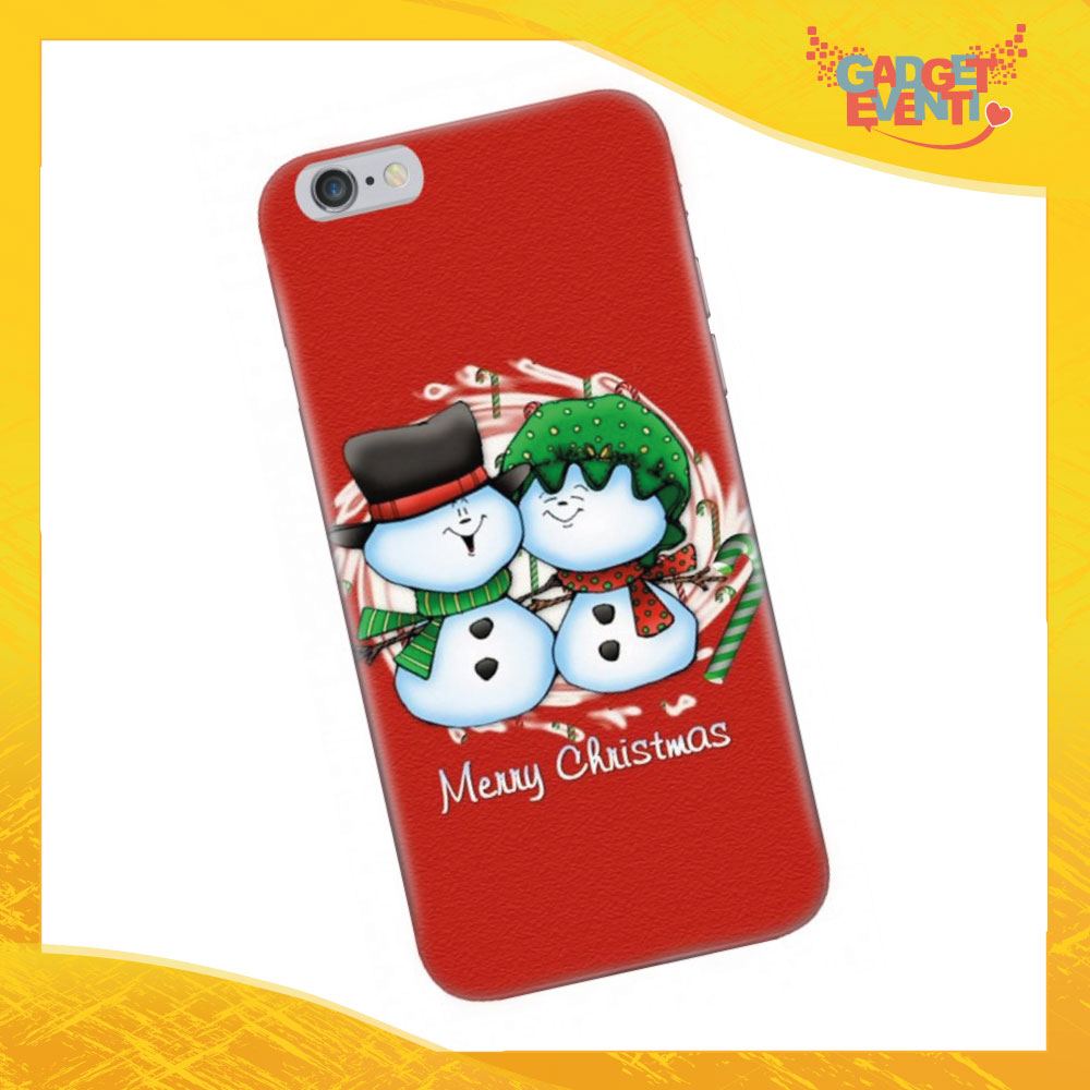 "Cover Smartphone Natale Cellulare Tablet ""Pupazzi di neve"" Gadget Eventi"
