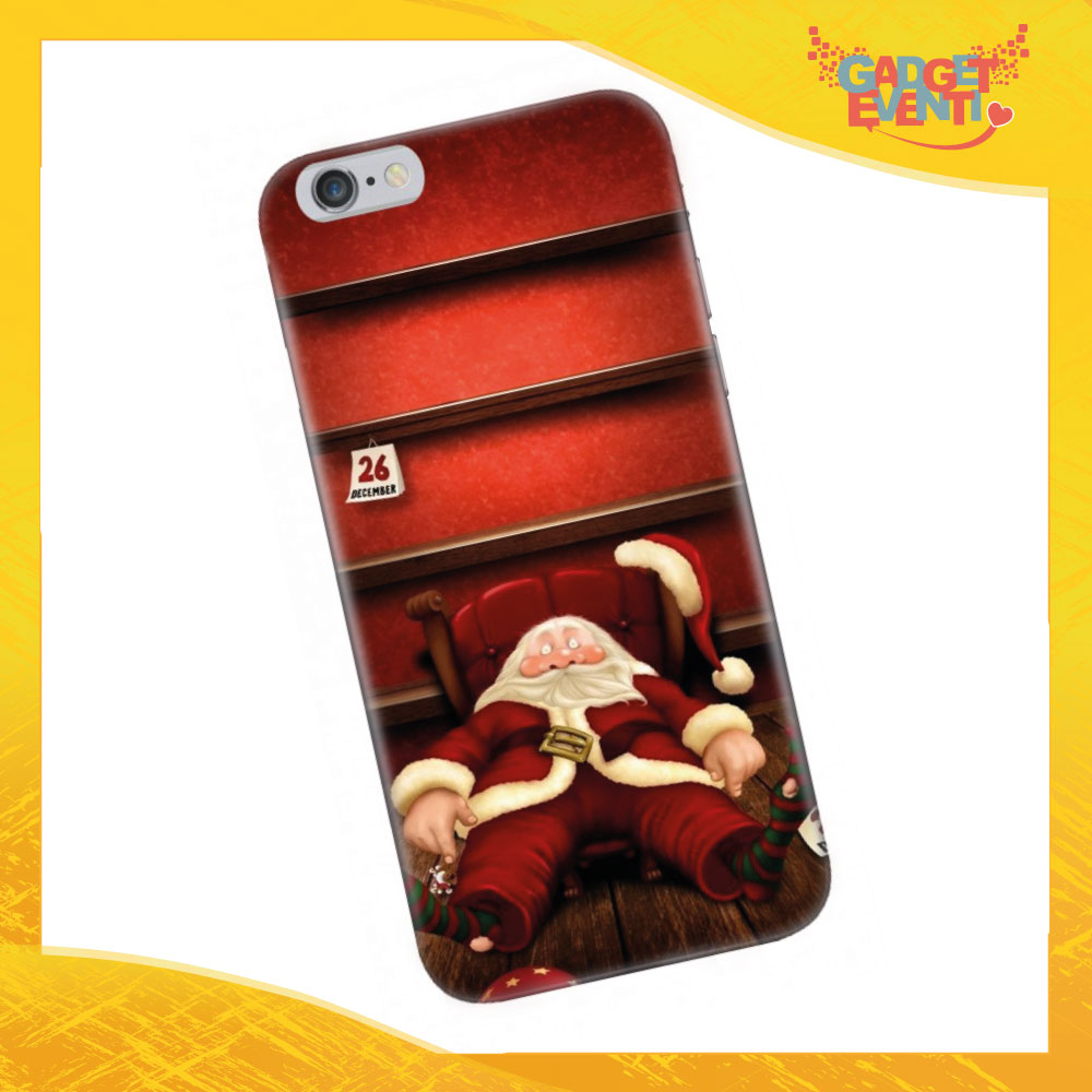 "Cover Smartphone Natale Cellulare Tablet ""Babbo Natale stanco"" Gadget Eventi"
