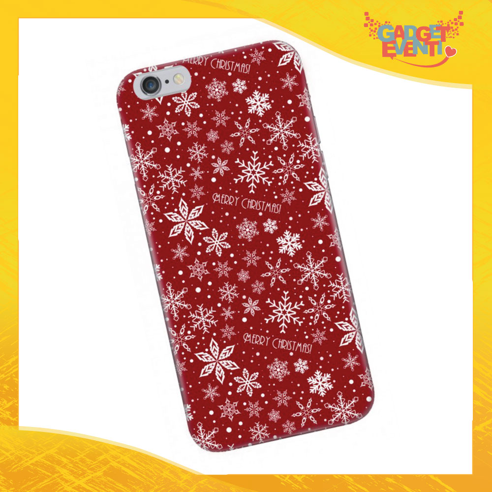 "Cover Smartphone Natale Cellulare Tablet ""Merry Christmas con fiori"" Gadget Eventi"