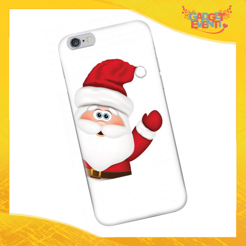 "Cover Smartphone Natale Cellulare Tablet ""Babbo Natale in bianco""Gadget Eventi"
