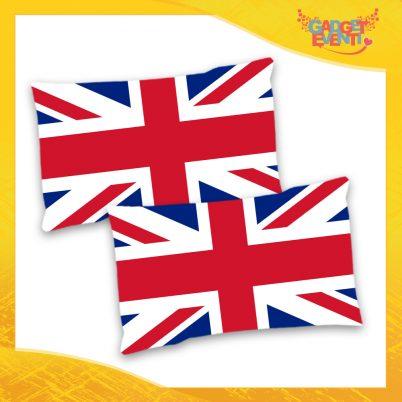"""Coppia di Federe Cuscini Biancheria da letto """"England"""" Gadget Eventi"""