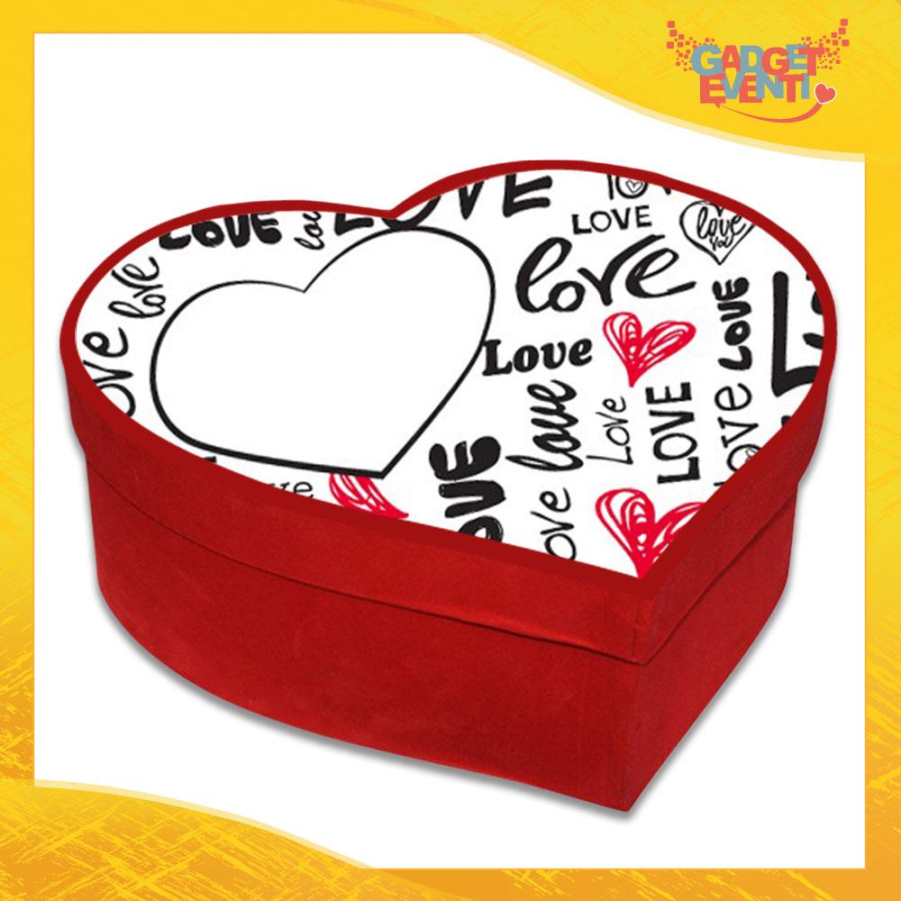 """Scatola a Cuore Rosso San Valentino Love """"Amore"""" Gadget Eventi"""