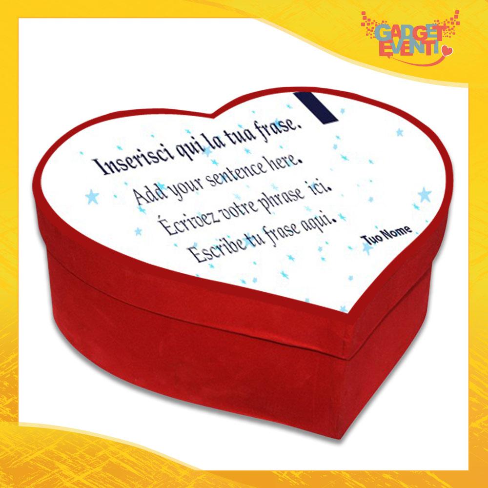 """Scatola a Cuore Rosso San Valentino Love """"Poesia Stellata"""" Gadget Eventi"""