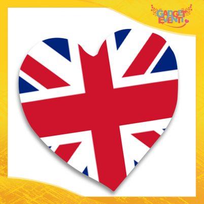 """Cuscino a Cuore Divano Letto Poltrona """"England"""" Gadget Eventi"""