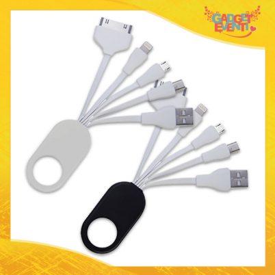 """Cavo per Ricarica 5 in 1 """"Connection"""" lightning 30 pin micro mini USB Gadget Eventi"""