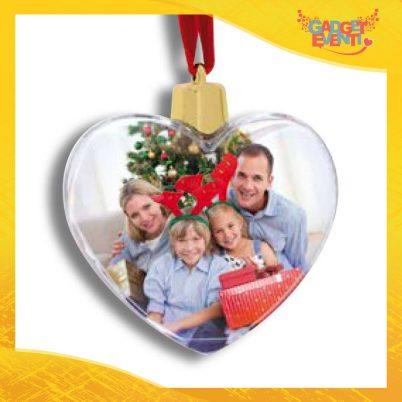 """Appendino Natale Addobbo Natalizio con foto personalizzabile """"Cuore di Natale"""" Gadget Eventi"""