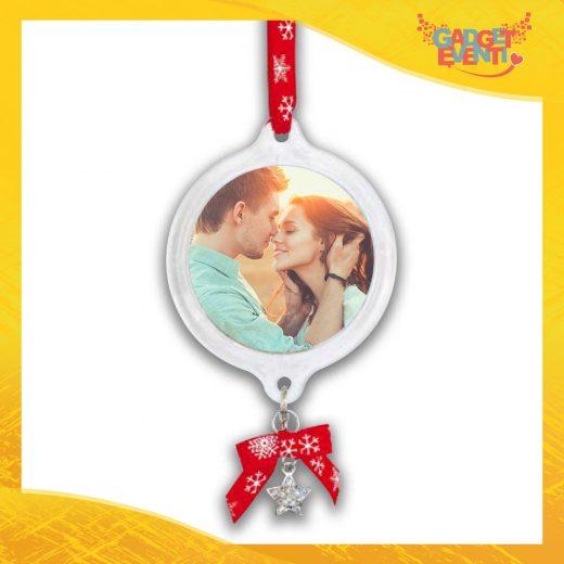 """Appendino Natale Addobbo Natalizio con foto personalizzabile """"Medaglietta di Natale con Campanello"""" Gadget Eventi"""
