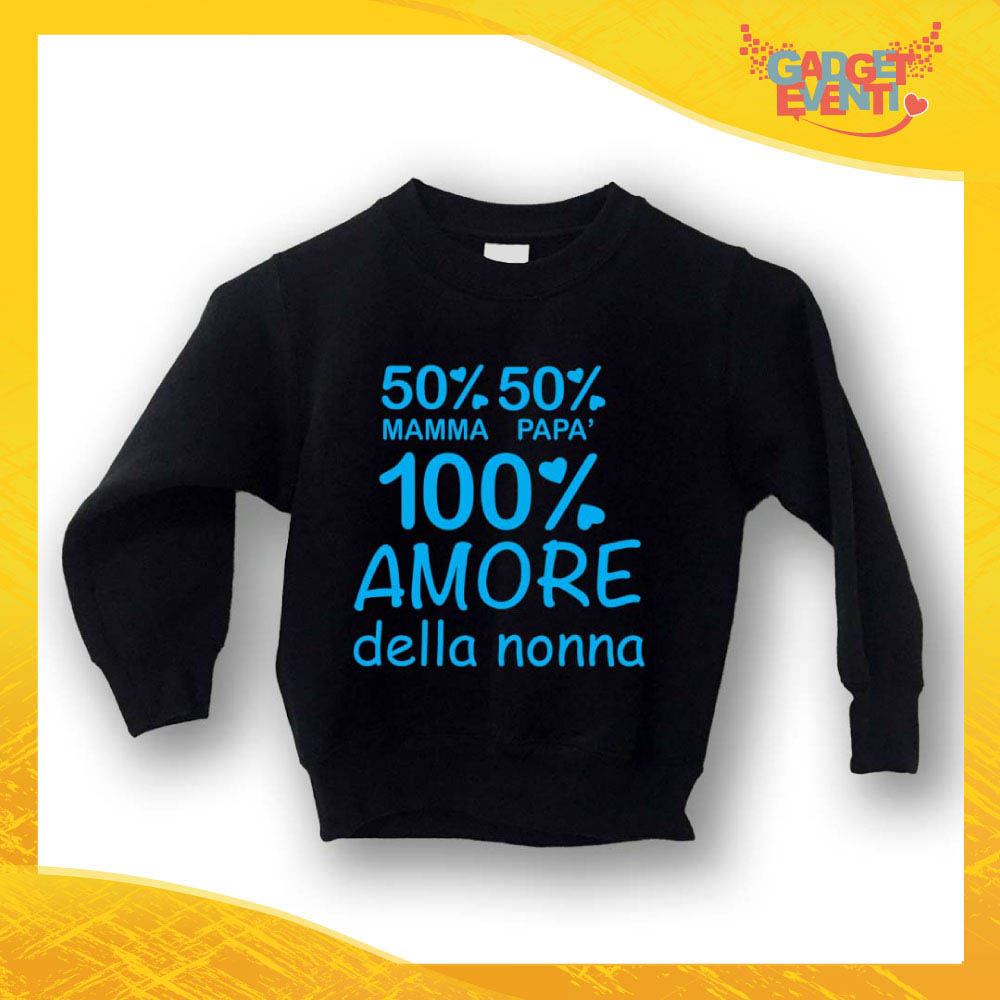 """Felpa Bambino Baby """"Amore della Nonna"""" Gadget Eventi"""