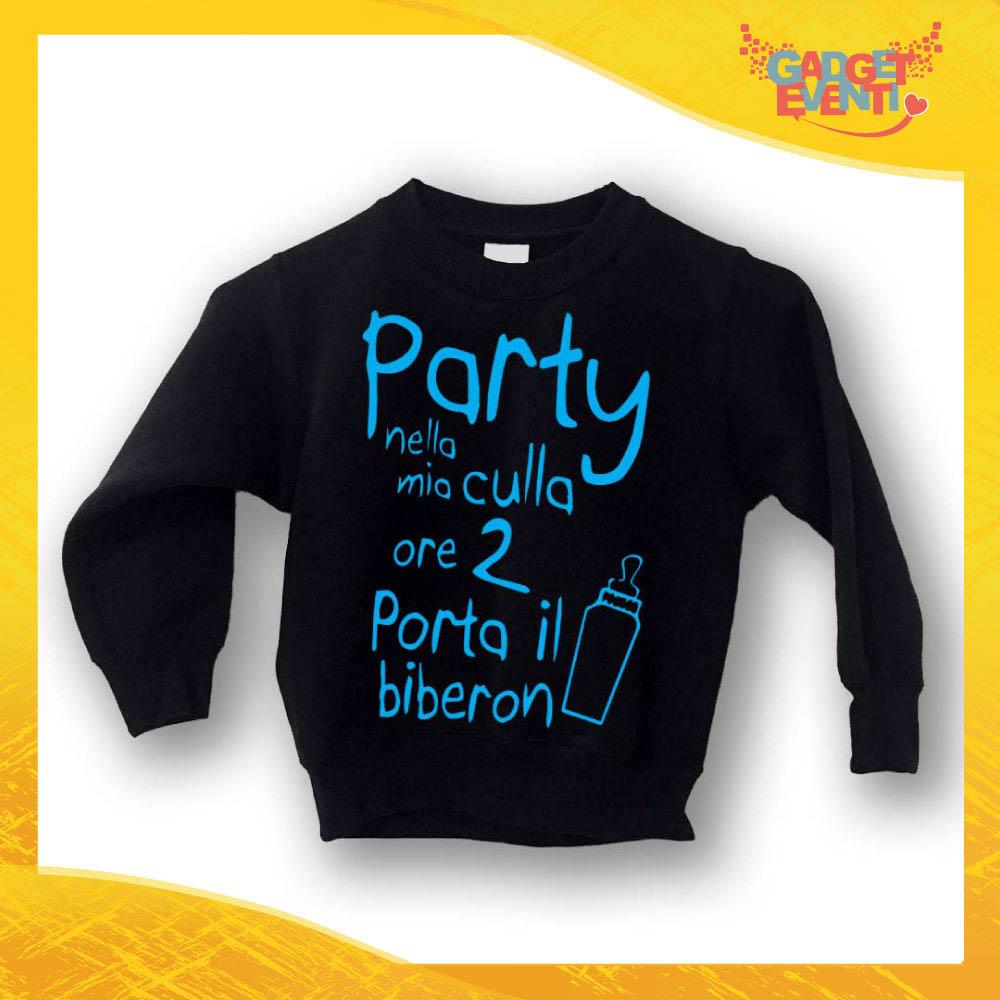 """Felpa Bambino Baby """"Party nella mia culla"""" Gadget Eventi"""