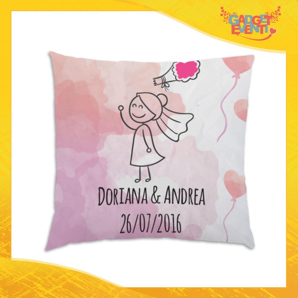 """Cuscino Quadrato Divano Letto Poltrona """"Lancio del Bouquet"""" Gadget Eventi"""