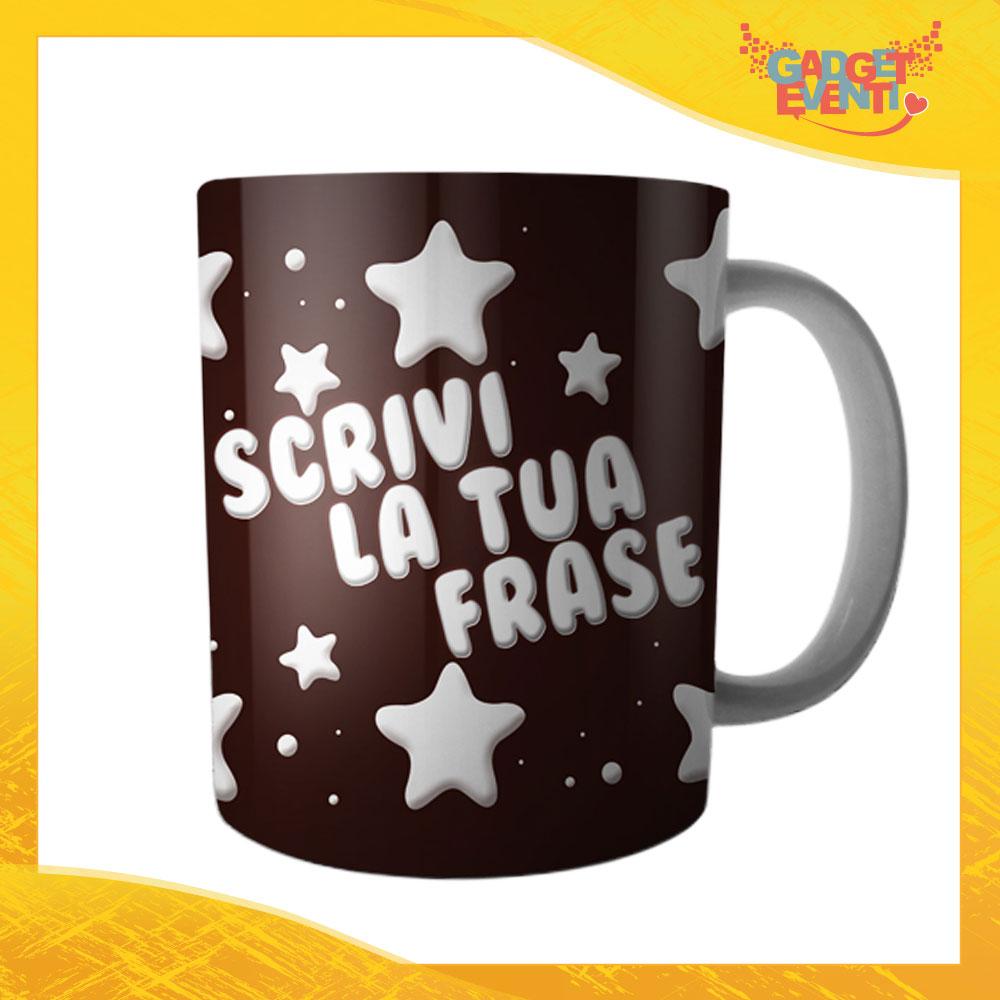 """Tazza Colazione Breakfast """"Frase Personalizzata Stelline"""" Gadget Eventi"""