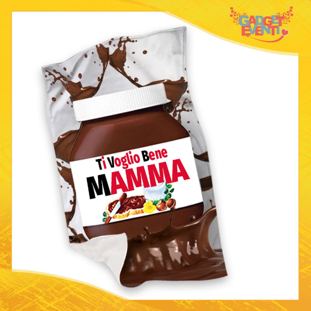 """Plaid Coperta in Pile """"Ti Voglio bene Mamma Cioccolato"""" Festa della Mamma Gadget Eventi"""