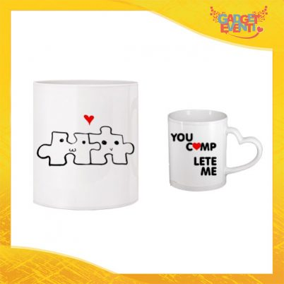 """Tazza dell'Amore """"Love Puzzle"""" San Valentino Gadget Eventi"""