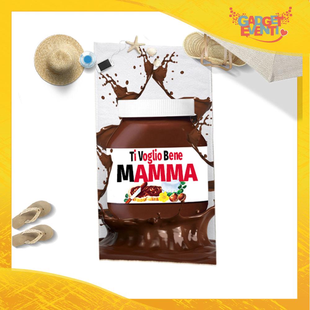 """Telo Mare Personalizzato """"Ti Voglio Bene Mamma Cioccolato"""" Festa della Mamma Gadget Eventi"""