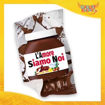 """Plaid Coperta in Pile """"L'Amore Siamo Noi Cioccolato"""" San Valentino Gadget Eventi"""