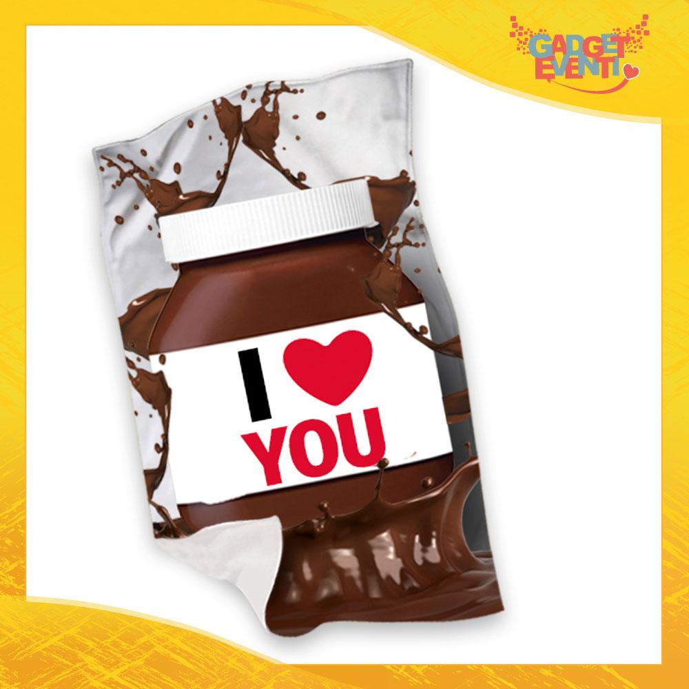 """Plaid Coperta in Pile """"I Love You Cioccolato"""" San Valentino Gadget Eventi"""
