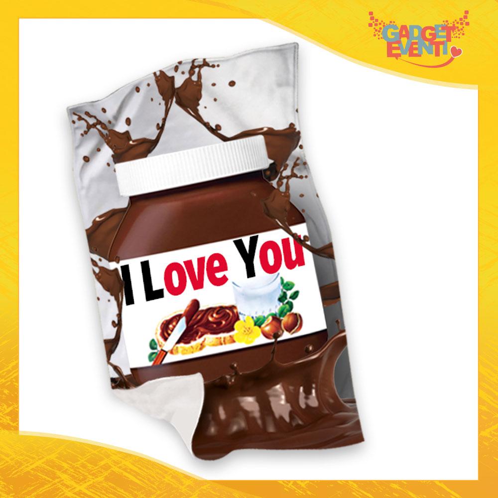 """Plaid Coperta in Pile """"I Love You Testuale Cioccolato"""" San Valentino Gadget Eventi"""