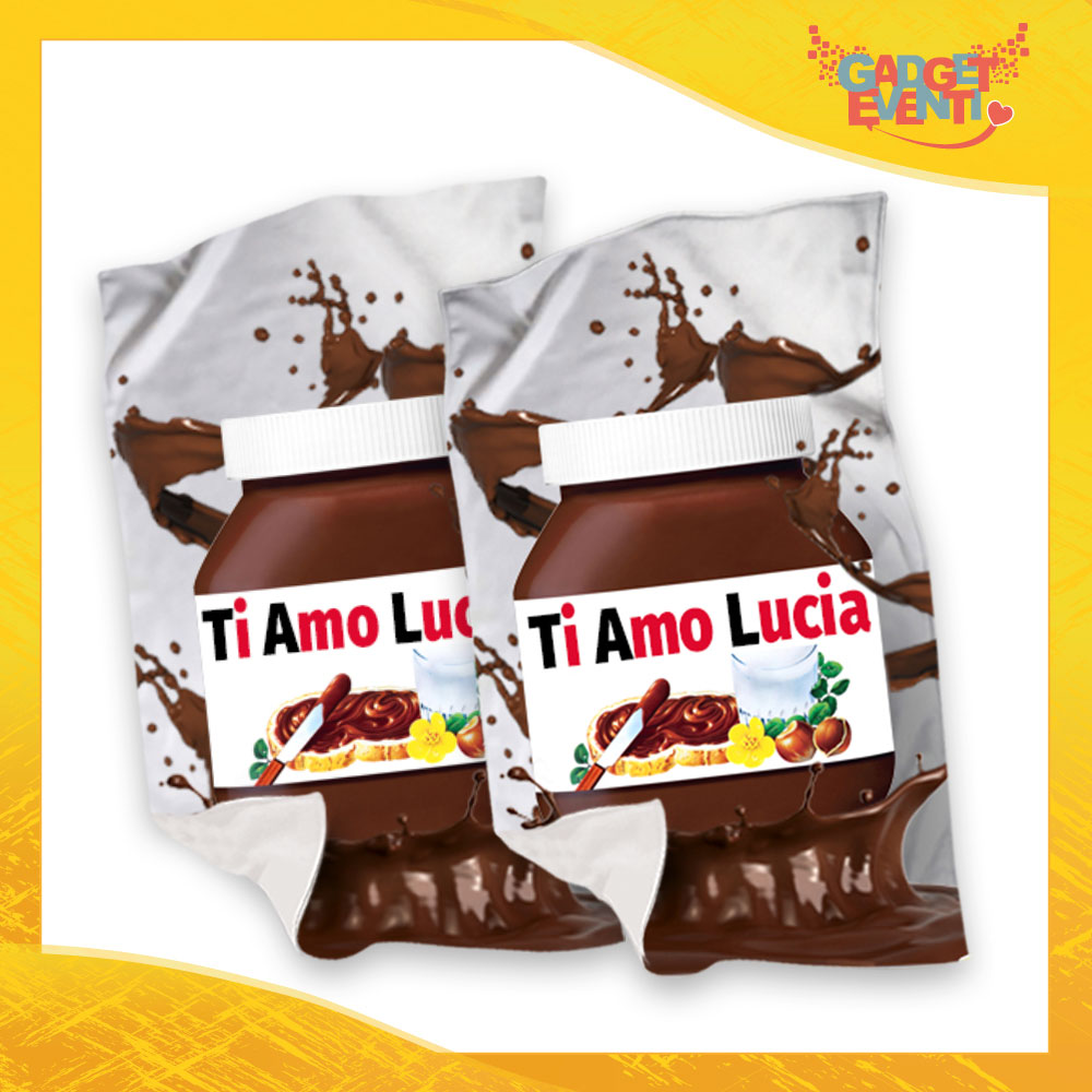 """Coppia di Plaid Coperte in Pile """"Ti Amo Nome Personalizzato Cioccolato"""" San Valentino Gadget Eventi"""