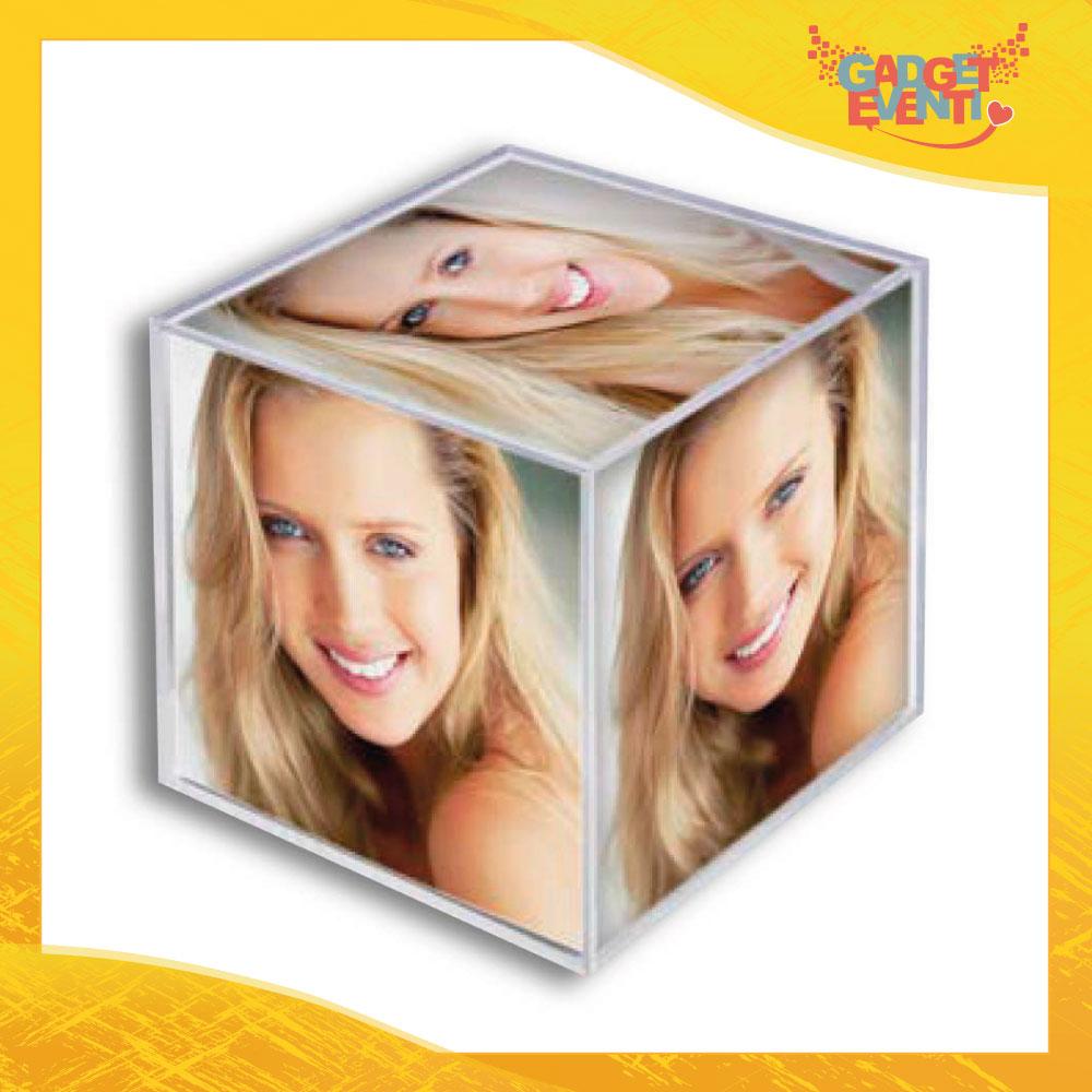 """Cornice Portafoto """"Photo Cube"""" Foto Regalo Gadget Eventi"""