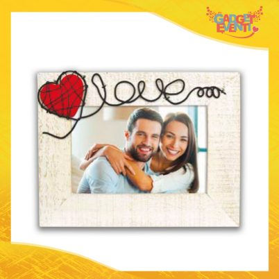 """Cornice Dell'Amore """"Palloncino Love Orizzontale"""" Portafoto San Valentino Gadget Eventi"""