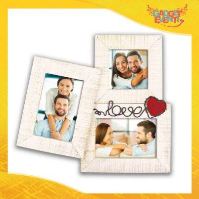 """Cornice Dell'Amore """"Palloncino Love Triplo"""" Portafoto San Valentino Gadget Eventi"""
