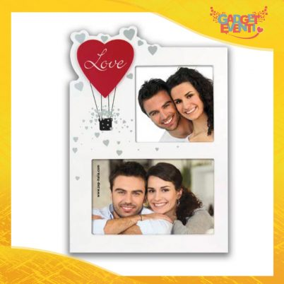 """Cornice Dell'Amore """"Mongolfiera Love Doppia"""" Portafoto San Valentino Gadget Eventi"""
