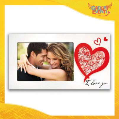 """Cornice Dell'Amore """"Amore Passionale Orizzontale"""" Portafoto San Valentino Gadget Eventi"""