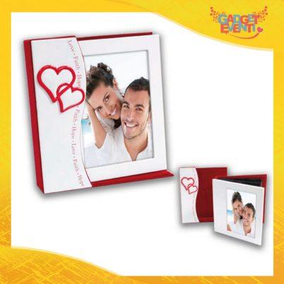 """Cornice Dell'Amore """"Doppio Cuore Love"""" Portafoto San Valentino Gadget Eventi"""