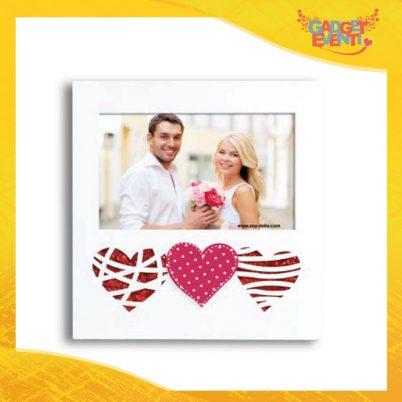 """Cornice Dell'Amore """"Triple Heart Orizzontale"""" Portafoto San Valentino Gadget Eventi"""