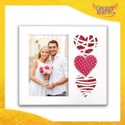 """Cornice Dell'Amore """"Triple Heart Verticale"""" Portafoto San Valentino Gadget Eventi"""