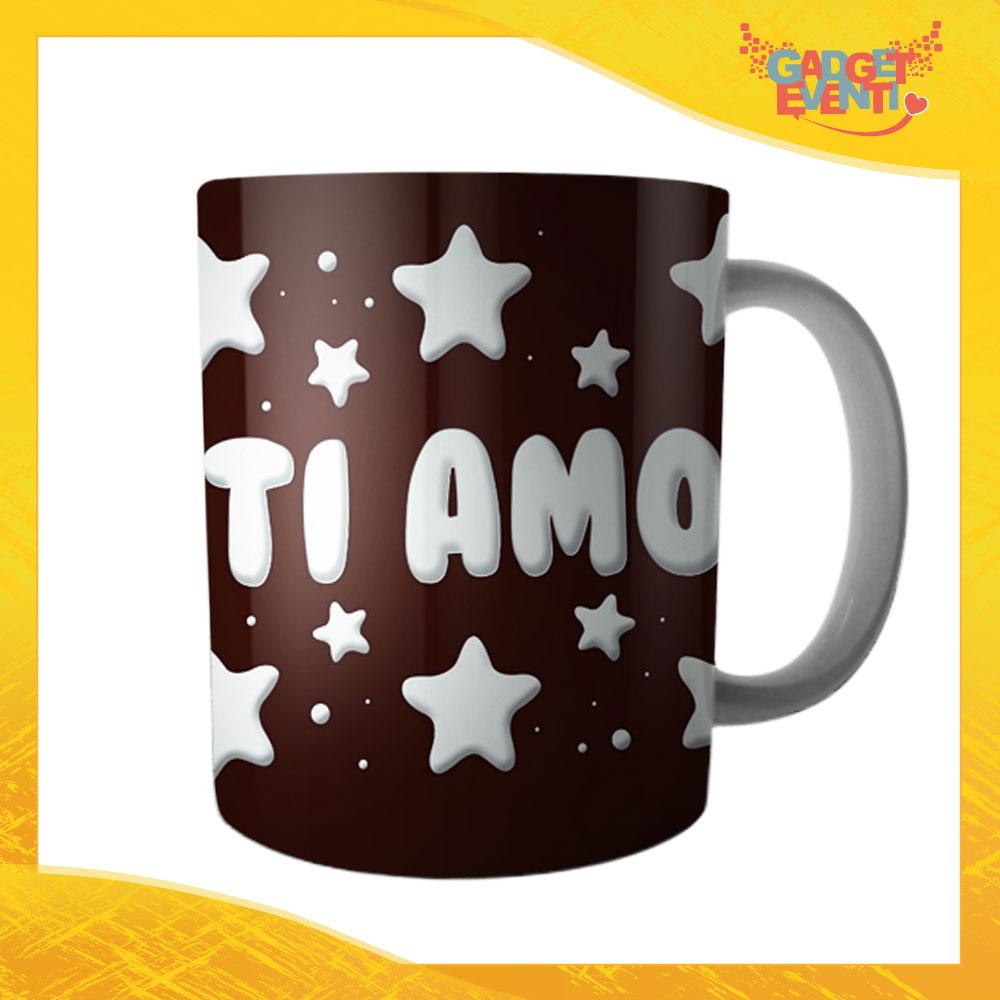 """Tazza dell'Amore Colazione Breakfast """"Ti Amo Stelline"""" San Valentino Gadget Eventi"""