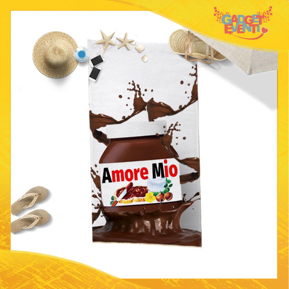"""Telo Mare Personalizzato """"Amore Mio Cioccolato"""" San Valentino Gadget Eventi"""