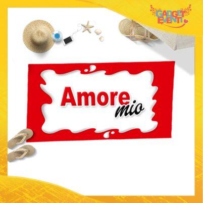 """Telo Mare Personalizzato """"Amore Mio Bar"""" San Valentino Gadget Eventi"""