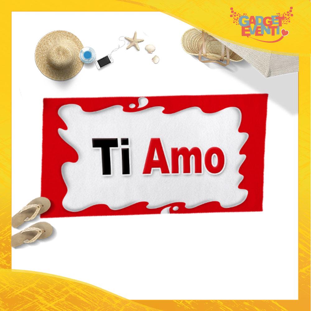 """Telo Mare Personalizzato """"Ti Amo Bar"""" San Valentino Gadget Eventi"""